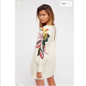 Free People Mini Obsessions Embroidered Dress